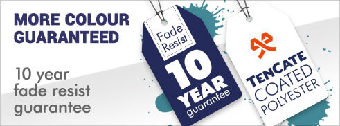 10 Year fade resistant guarantee